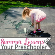 Summer Lessons for Your Preschooler