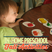 In-Home Preschool- Fall Activities