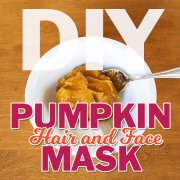 DIY pumpkin hair & face mask
