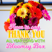 How To Say Thank You All Year with BloomsyBox