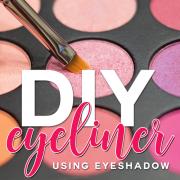 diy eyeliner using eyeshadow
