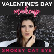 Valentine's Day Makeup Smokey Cat Eye-pin
