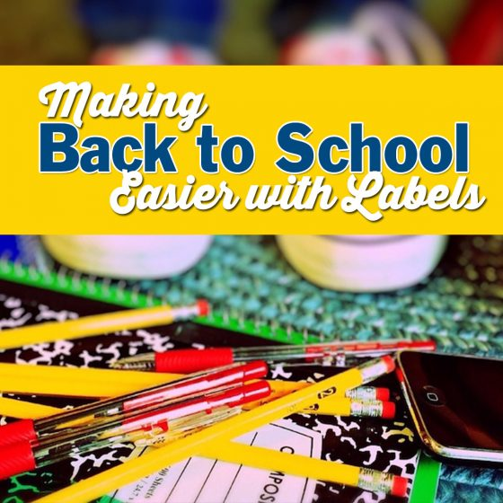 Making Back to School Easier with Labels