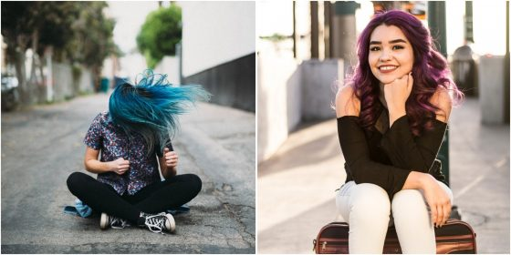 maintaining colorful hair