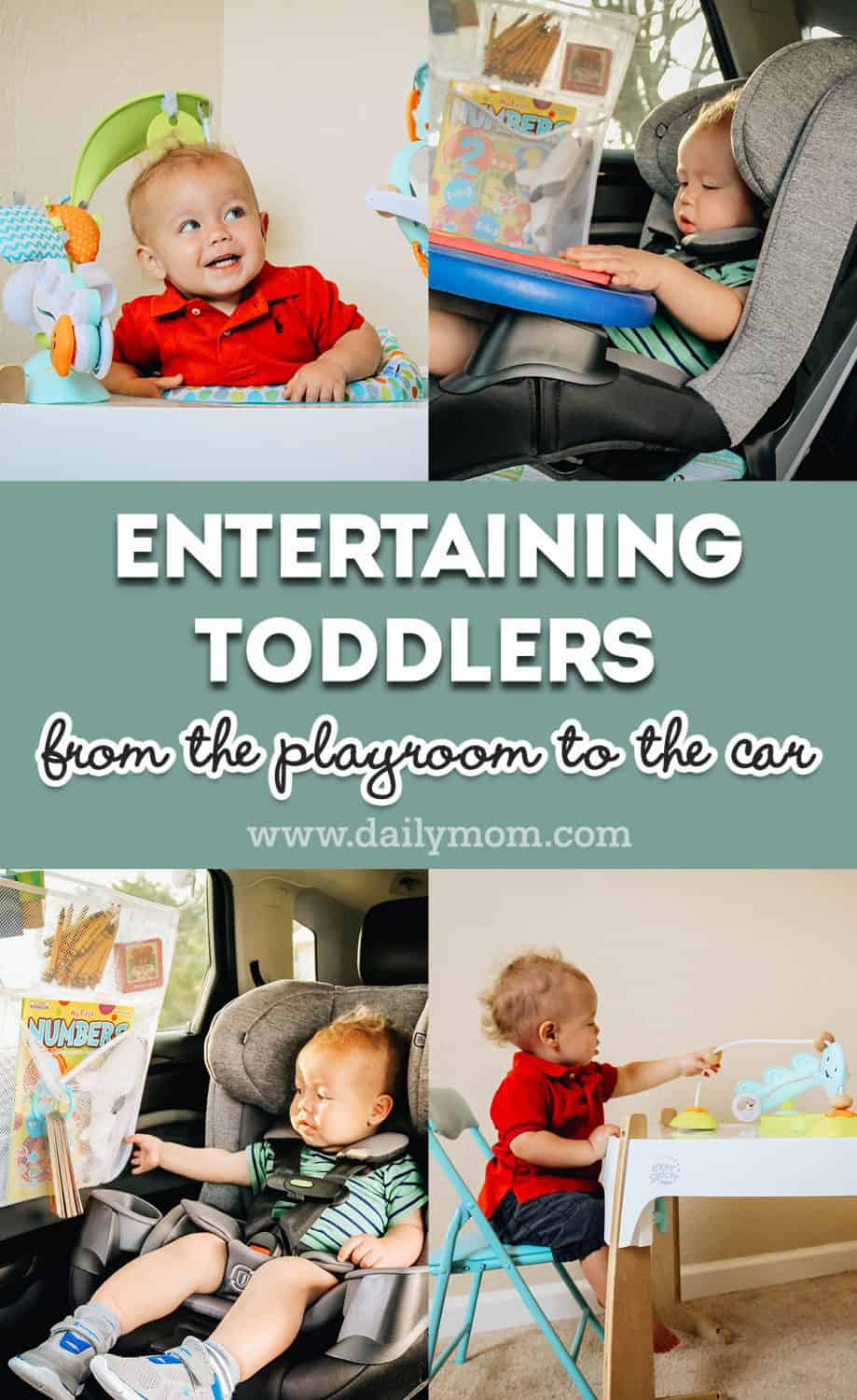 Entertaining toddlers from the playroom to the car