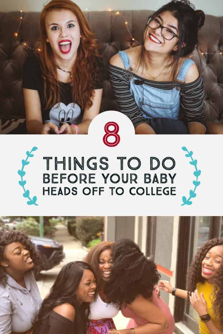 Eight thins to do before you send your baby off to college.