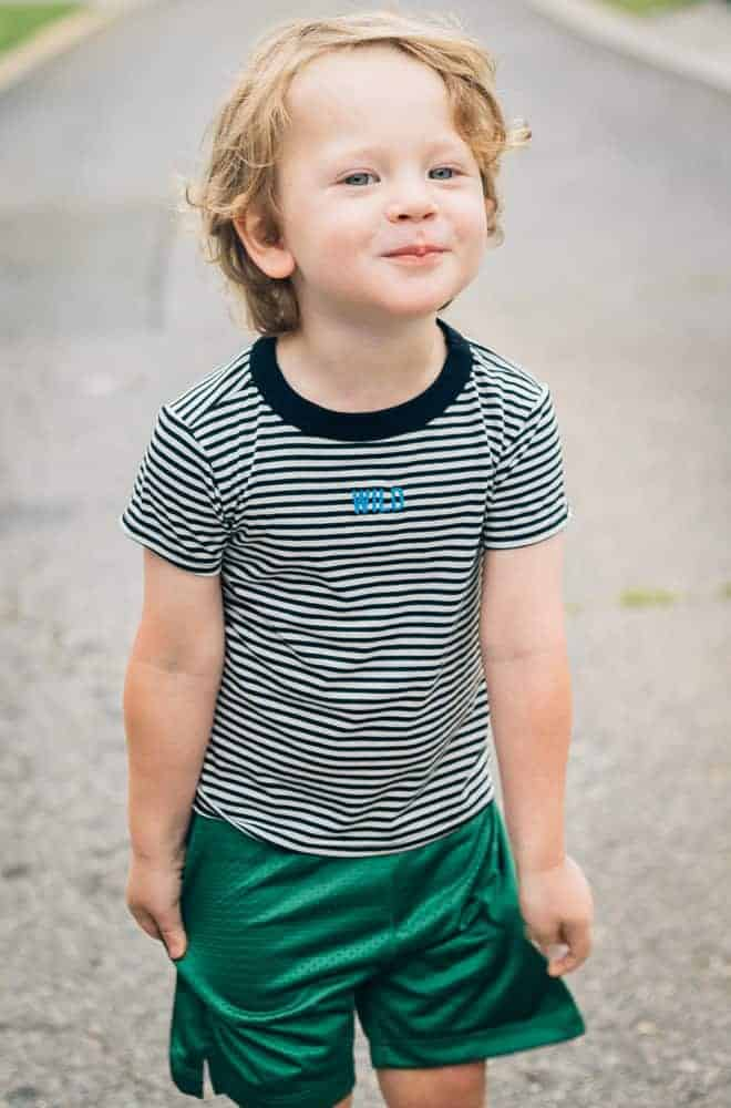 Beru-Kids-Green-Shorts-Wild-Striped-Shirt-2