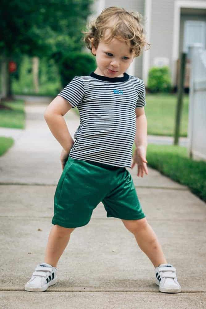 Beru-Kids-Green-Shorts-Wild-Striped-Shirt-3