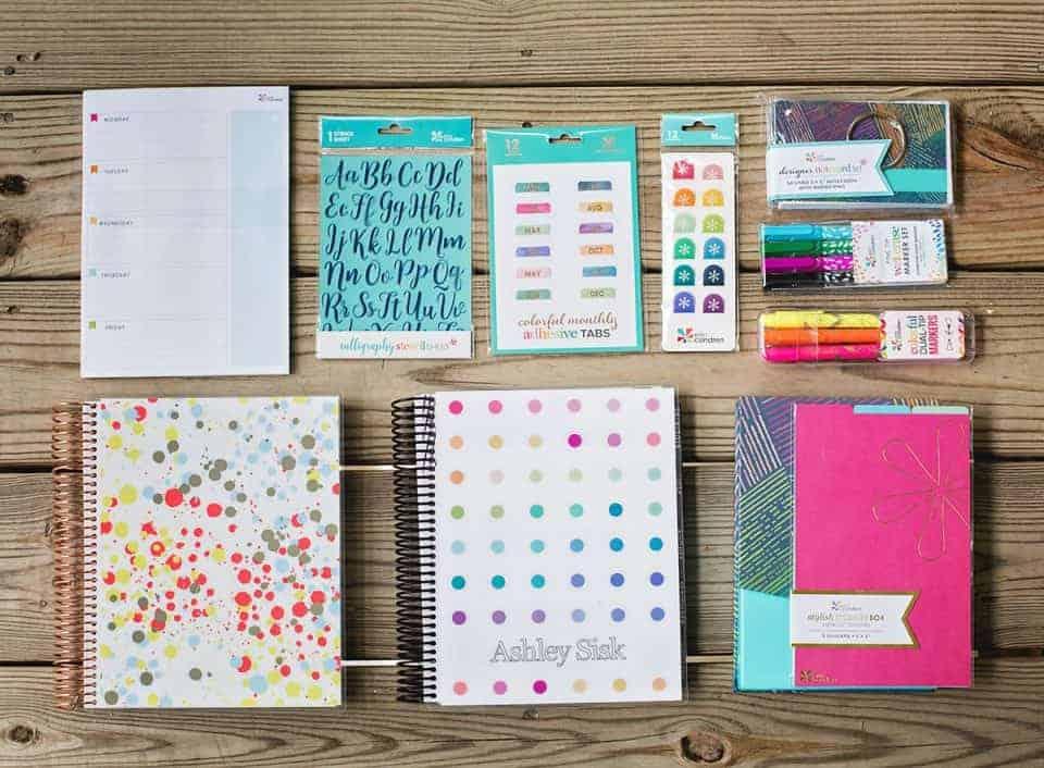Erin Condren 2018 planner products