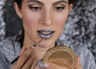 How to Rock Glitter Lips for Halloween