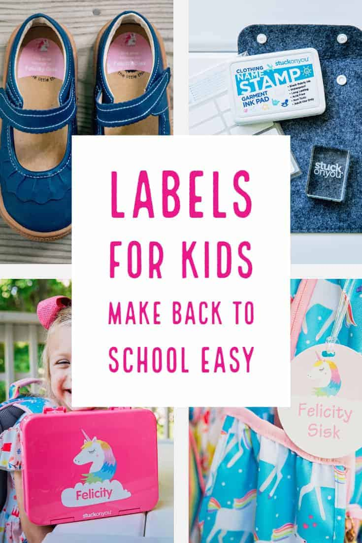 Labels for Kids Make Back to School easy