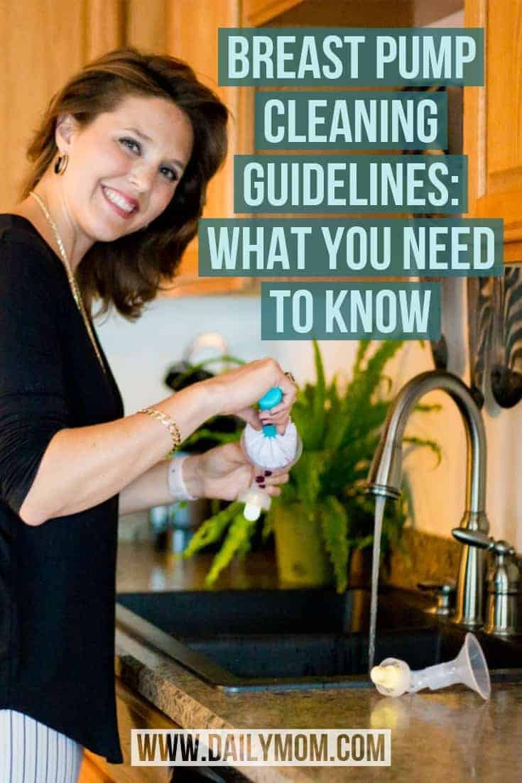 breast pump cleaning guidelines