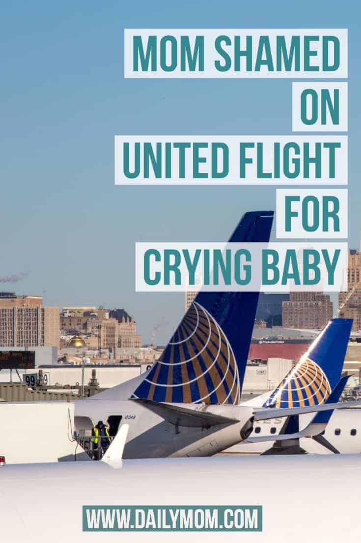 mom shamed on united flight