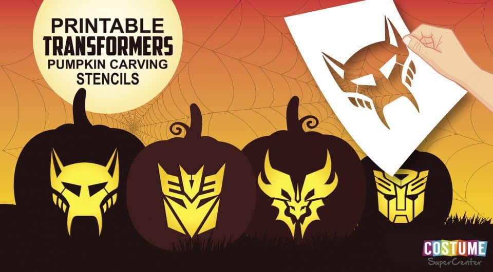 Transformers Free Pumpkin Carving Stencils