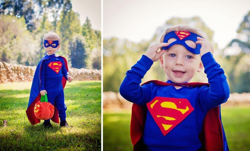 DIY Halloween Superman Collage