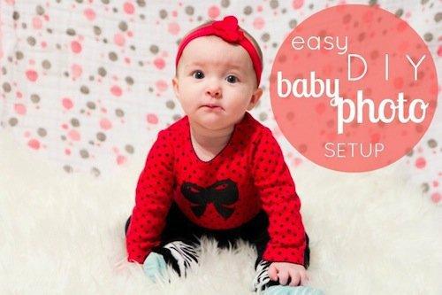 Easy Diy Baby Photo Setup