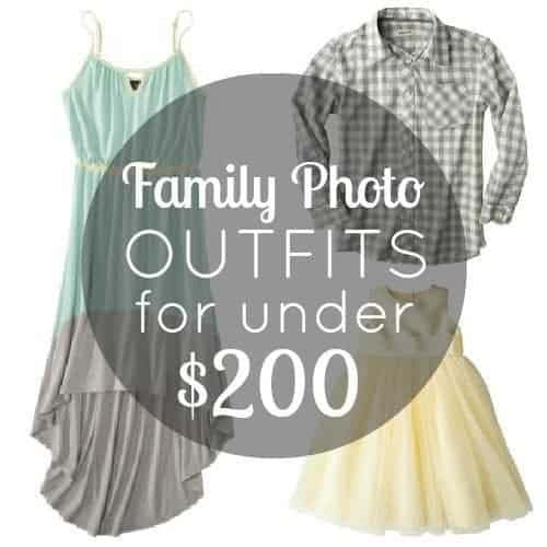 Family Photo Outfits For Under $200