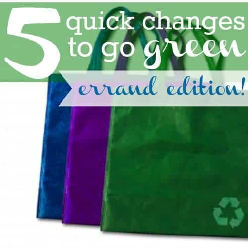 """5 Ways To """"go Green"""" Without Changing Your Lifestyle: Errand Edition"""
