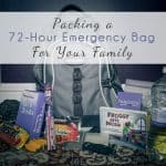 Packing A 72-hour Emergency Bag For Your Family