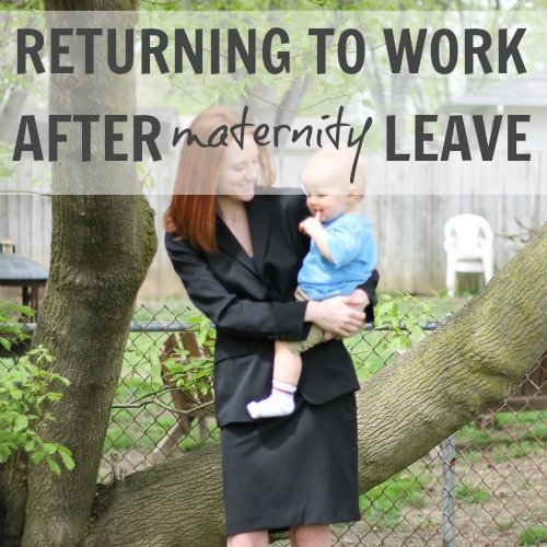 Returning to Work After Maternity Leave 1 Daily Mom Parents Portal