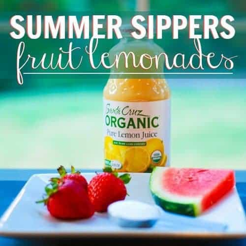 Summer Sippers: Fruit Lemonades