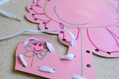 DIY Kids Art Lacing Cards 3 Daily Mom Parents Portal