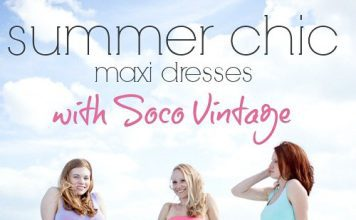 Summer Chic Maxi Dresses With Soco Vintage