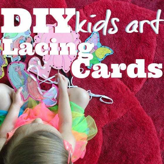 DIY Kids Art Lacing Cards 1 Daily Mom Parents Portal
