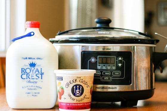 Homemade Slow Cooker Yogurt