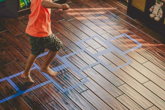 Rainy Day Activity: Playroom Floor Hopscotch 3 Daily Mom Parents Portal