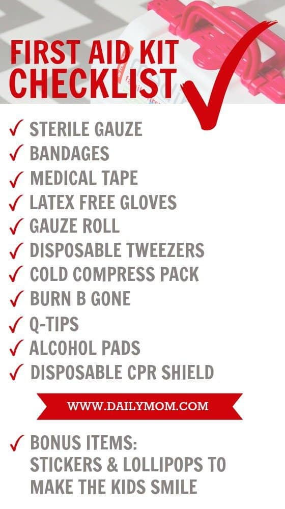 Mommy's First Aid Kit Essentials 5 Daily Mom Parents Portal