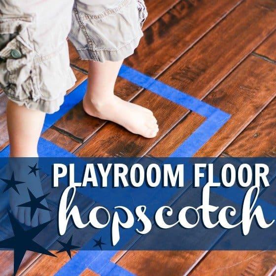 Rainy Day Activity: Playroom Floor Hopscotch 1 Daily Mom Parents Portal