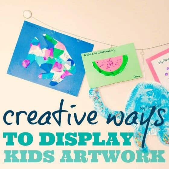Creative Ways to Display Kids Artwork 1 Daily Mom Parents Portal