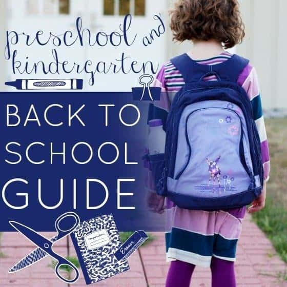 Preschool And Kindergarten Must Haves For Back To School
