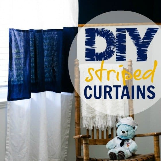 DIY Striped Curtains 1 Daily Mom Parents Portal