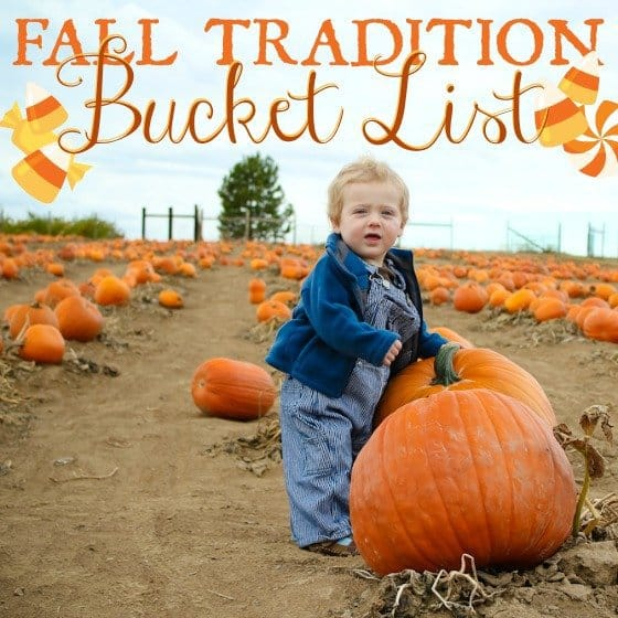 Fall Tradition Bucket List