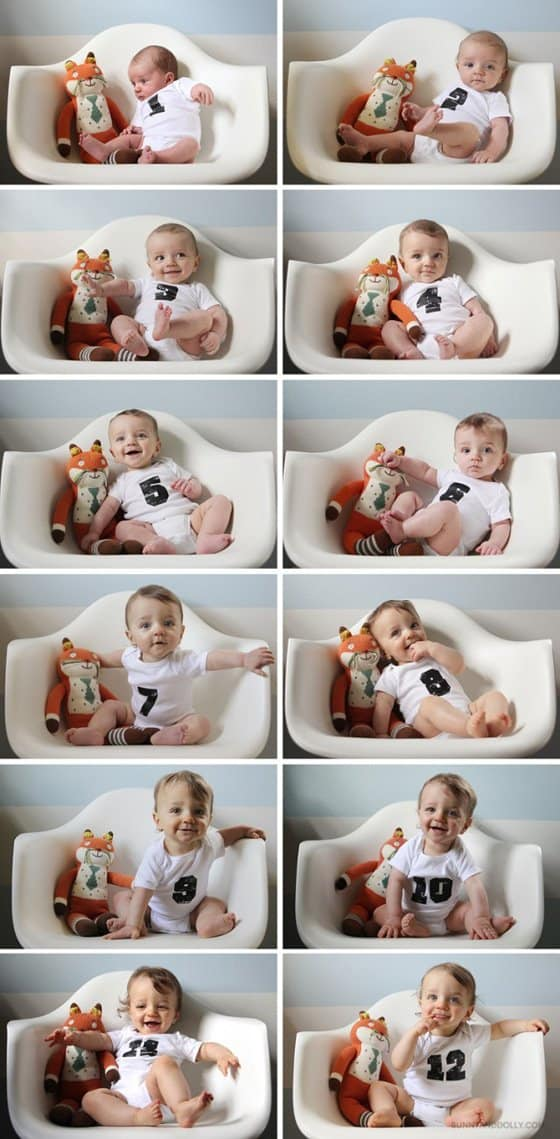 Baby's 1st Year: Creative Monthly Baby Photo Ideas 2 Daily Mom Parents Portal