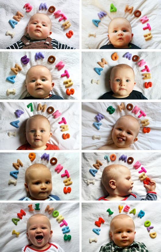 Baby's 1st Year: Creative Monthly Baby Photo Ideas 12 Daily Mom Parents Portal