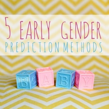 5 Early Gender Prediction Methods