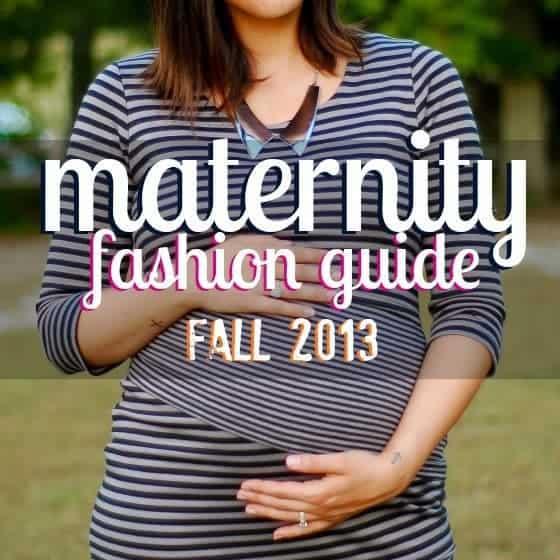 Maternity Fashion Guide: Fall 2013
