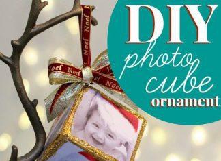 Diy Photo Cube Ornament 1