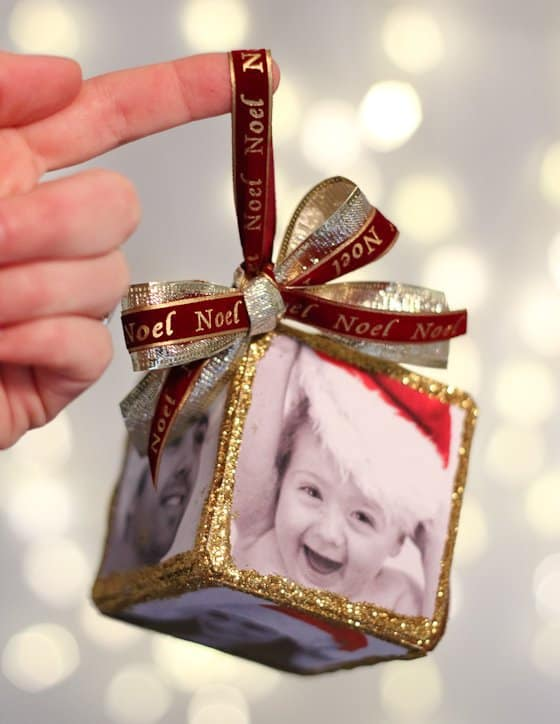 DIY Photo Cube Ornament 3 Daily Mom Parents Portal
