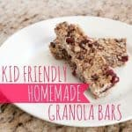 Kid Friendly Homemade Granola Bars
