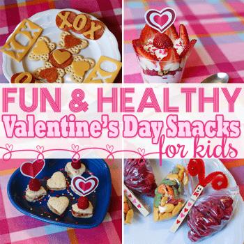 Fun & Healthy Valentine's Day Snacks for Kids