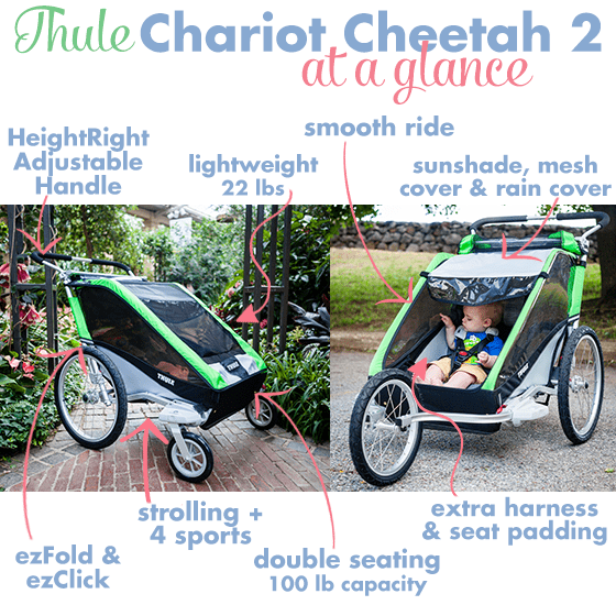 Stroller Guide: Thule Chariot Cheetah 2 Multi-sport Double Stroller 4 Daily Mom Parents Portal