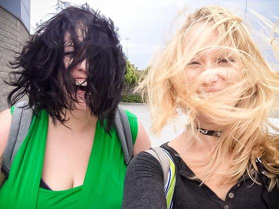 got caught by crazy desert wind