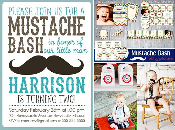 Mustache Bash Collage