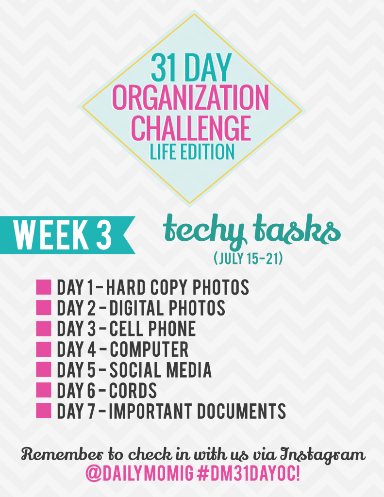 31 Day Organization Challenge- Life Edition- Week 3 1 Daily Mom Parents Portal