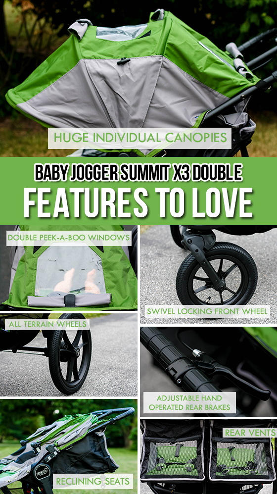 GEAR GUIDE BABY JOGGER SUMMIT X3 DOUBLE STROLLER 13 Daily Mom Parents Portal