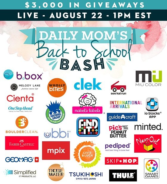 Daily Mom's back to school giveaway bash